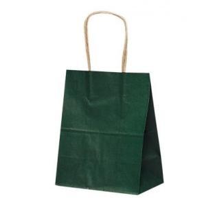 ラッピング 代替用袋カテゴリの手提げ紙袋(大サイズ/緑) 【購入単位:200個〜】卸売り/短納期/安い