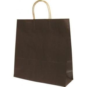 ラッピング 代替用袋カテゴリの手提げ紙袋(大サイズ/カカオ) 【購入単位:200個〜】オリジナル対応/巾着まとめ買い/見積もり