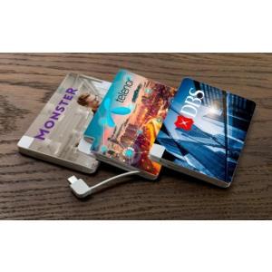 販促品/ノベルティ向けモバイルバッテリー 5000mAh Card 「名入代込み 両面フルカラー」  短納期/見積もり人気に!|soshina