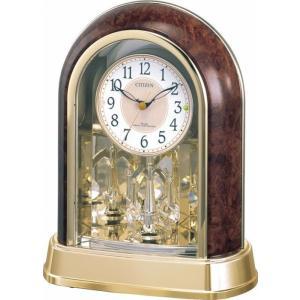 ノベルティ 記念品 シチズン 電波置時計 (スワロフスキー・エレメント回転飾り付) [名入れ別途お見積もり]  周年記念/まとめ売り|soshina