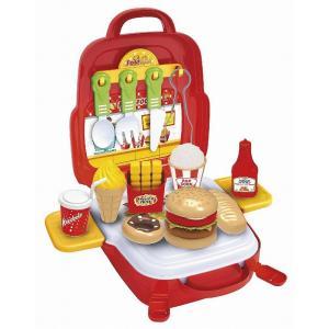 【粗品 記念品】ままごとリュック ハンバーガーショップセット  お祭り/お子様ランチに!|soshina