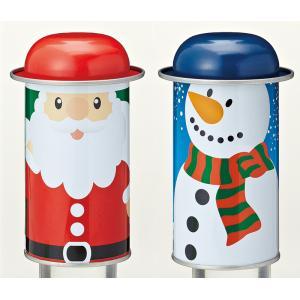 クリスマスグッズ プレゼント クリスマス・フタ付ブリキ缶 ご注文は、50個以上でお願いします。  1...