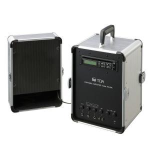 KZ-25A TOA ポータブルアンプ(CD付) 移動用 PAセット 20W ダイバシティチューナーユニット(WTU-1820)1台内蔵 [ KZ25A ]|soshiyaru