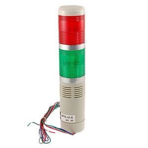 uxcell 工業用 信号光 DC 24Vブザー シグナル タワー ランプ 90DB 赤緑色 soten2