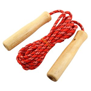 uxcell 長さ2メートル 木手柄 ジャンプロープ 木 ゴム 90g|soten2