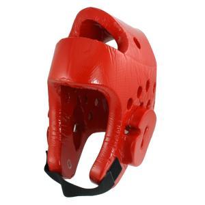 uxcell ヘルメット ヘッドギアヘッドガードプロテクター テコンドー 防具 レッド 26 x 22 x 2.1cm|soten2