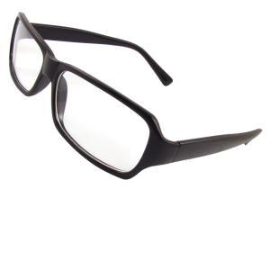 uxcell ダテメガネ 男性用 セックス プラスチックフルフレームアームズ 矩形レンズ 伊達メガネ|soten2
