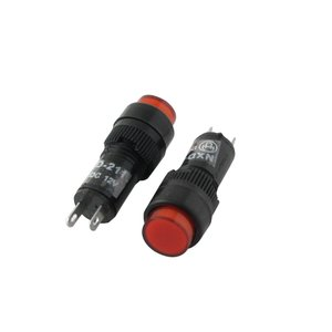 uxcell インジケータライト 赤いライト タパイロット DC 12V ネオン 10mm 10個入り 黒い soten2