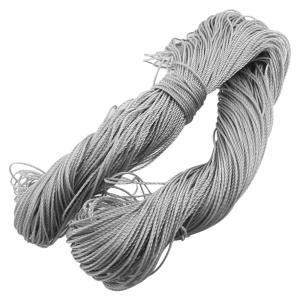 uxcell 漁網糸 釣りネットケーブル ロープ ナイロン製 グレー 直径1.5mm 120m soten2