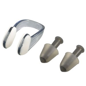 uxcell 耳栓 鼻栓 セット 鼻クリップ ブラックプラスチック製 シリコーン製 水泳用 防水保護|soten2