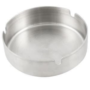 uxcell 灰皿 直径10cm 丸い ステンレス鋼 シルバートーン soten2