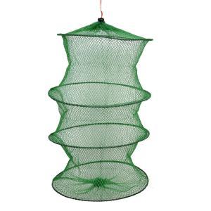 uxcell 釣りネット かに籠 魚籠 折り畳み網 網籠 釣具 釣り用品 捕獲ネット 収納 網細工 釣り愛好家 60cm soten2