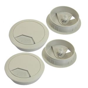 uxcell 配線孔キャップ コンピュータデスク 用 4個入り 硬質 35x15mm|soten2