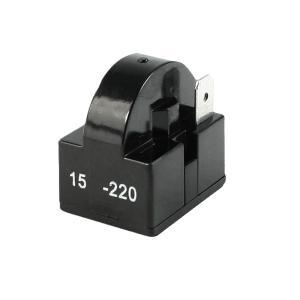 uxcell PTCスターターリレー 冷蔵庫用 プラスチックシェル 黒い 15Ohm シングルピン soten2