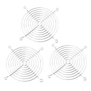 uxcell ファングリル ファンガード 金属 ワイヤ フィンガー グリル 120 x 120mm コンピュータケース|soten2