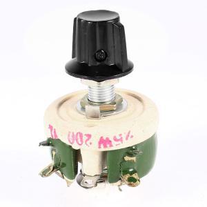 uxcell ポテンショメータ ボリューム 可変抵抗器 抵抗電気巻線型 調整可能 25W 200Ohm|soten2