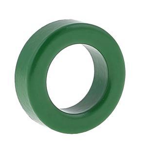 製品名:トロイダルフェライトコア;材質:鉄 カラー:グリーン 全体のサイズ:22×14のx7mm 重...