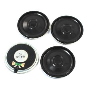 uxcell 拡声器 4個 1W 8オーム 内部 磁石 インターホン スピーカー 40mm ブラック 丸い|soten2