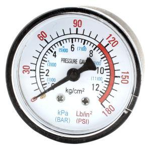 uxcell コンプレッサーゲージ エアーコンプレッサー 空気圧 流体 真空圧力計 0-12Bar 0-180PSI soten2