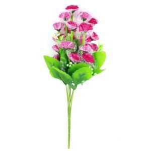 uxcell 造花 フラワーブーケ 花束 人工 フクシア プラスチック 1個|soten2
