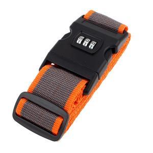 uxcell スーツケースベルト 荷物ストラップ 荷物ベルト バックル スーツケース用 スーツケースストラップ 3桁のパスワード付き オレンジ グレー 2 m|soten2