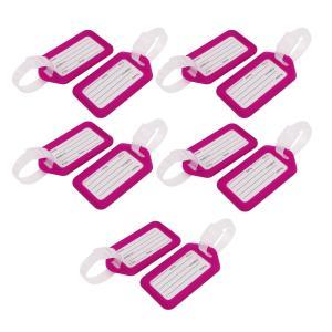 uxcell ネームタグ 荷物タグ 旅行 ラギッジ タグ 荷物のタグ プラスチック ビニール 10個 パープル クリア|soten2