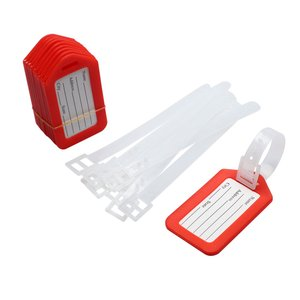 uxcell 荷物タグ バッグタグ レッド ホワイト クリア 10個入り|soten2