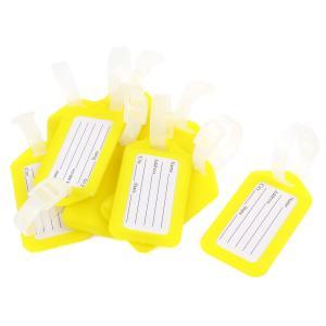 uxcell ネームタグ 荷物タグ 旅行 スーツケースタグ プラスチック製 ブルーホ ワイト スーツケース荷物 旅行用品 10個入|soten2