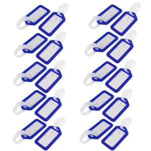 uxcell ネームタグ 荷物タグ 旅行 荷物タグ プラスチック フクシア 長方形 スタイル 8.5x5cm 20 個入り|soten2