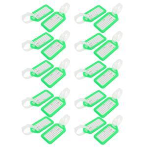 uxcell ネームタグ 荷物タグ 旅行 荷物タグ アドレス 名前ラベルタグ スーツケース リーン ホワイト プラスチック 長方形 20個|soten2
