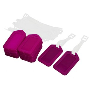 uxcell ネームタグ アドレス 硬いプラスチック手 荷物バック パック 荷物タグ ホクシャ 20個|soten2