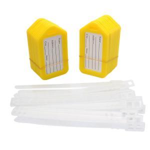 uxcell ネームタグ 荷物タグ 旅行 荷物タグ ID名ラベル荷物タグ 荷物リュックサックタグ アドレス イエロー ホワイト 長方形 プラスチック|soten2