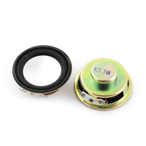 uxcell マグネットスピーカー 外部磁気スピーカー 外部磁石スピーカーホーン ラウンド 2個 40mmの直径 4オーム 3ワット|soten2