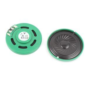 uxcell マグネットスピーカー 磁石スピーカー ラウンド プラスチック シェル マグネット 電子スピーカースピーカー 2個0.25W 8オーム40mm|soten2