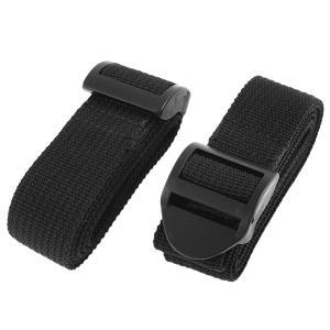 uxcell スーツケースベルト 荷物ストラップ 荷物ベルト バックル スーツケース用 ポリプロピレン製ブラック トラベルスーツケース 2個入り|soten2
