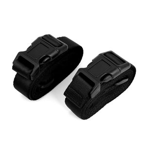 uxcell スーツケースベルト 荷物ストラップ 荷物ベルト バックル スーツケース用 スーツケースベルト バック パック ベルト ブラック 2個入り|soten2