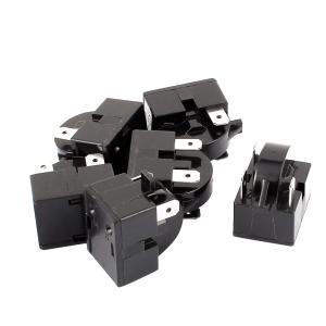 uxcell 冷蔵庫コンプレッサーリレー ブラック プラスチック 金属 家庭での使用 6個入り soten2