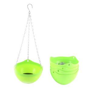 uxcell 花のポット 5個入り ライトグリーン プラスチック 吊り 植物 家、庭 飾り|soten2