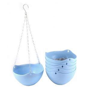 uxcell 植木鉢 植物プランターバスケット スカイブルー プラスチック製のハンギング 6個|soten2