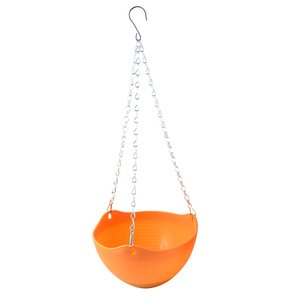 uxcell 吊りフラワーポットチェーン 花鉢植物 プランター ホームオフィス オレンジ プラスチック|soten2