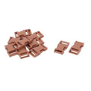 uxcell サイドリリース バックル 荷物バックル 高品質バックル ブラウン ストラップキーパー プラスチック 10個入り|soten2