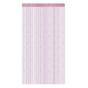 uxcell カーテン ストリングカーテン ひものれん 目隠し おしゃれ パーティション ビーズカーテン ピンク 100x200cm|soten2