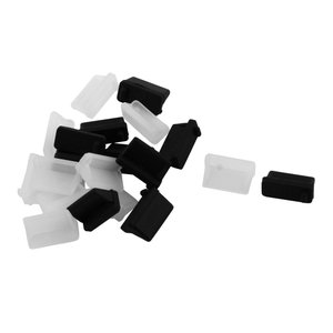 uxcell USBポートダストカバー シリコン 13 x 6 x 7mm 防塵キャップ USB 防塵 20 個入り|soten2