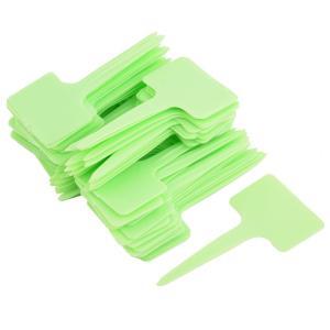 uxcell ラベルマーカーサイン ヤード ガーデン プラスチック T 形 プラント シード タグ ラベル マーカー ライトグリーン 100個入り|soten2