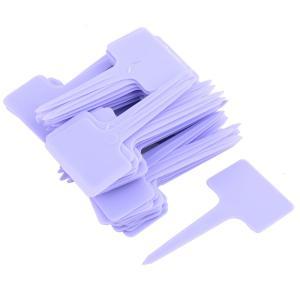uxcell ラベルマーカーサイン アウトドア ガーデン プラスチック T 形 プラント シード タグ ラベル マーカー パープル 100個入り|soten2