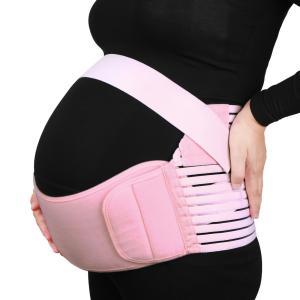 uxcell 妊婦帯 マタニティ腹部サポート アンパタータムベルト ウエスト ベリー バックブレース ピンク Mサイズ|soten2