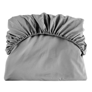 uxcell ボックスシーツ ベッドシーツ フラットシーツ ベッドカバー マイクロファイバー ソフト 通気性 柔軟性 快適 キングサイズ 198x203cm グレー|soten2