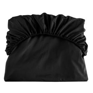 uxcell ボックスシーツ ベッドシーツ フラットシーツ ベッドカバー マイクロファイバー ソフト 通気性 柔軟性 快適 キングサイズ 198x203cm ブラック|soten2