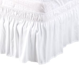 uxcell プリーツベッドスカート ベッドスカート ラップランドダストフリル ポリエステル 38cmのドロップ ツインサイズ ホワイト|soten2