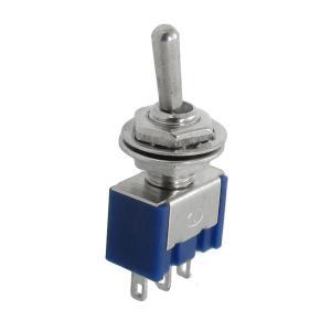 uxcell トグルスイッチ 3ポジショントグルスイッチ AC 125V 6A 3端子 5個セット|soten